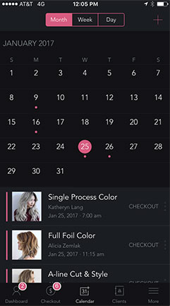 Simple Calendar Interface
